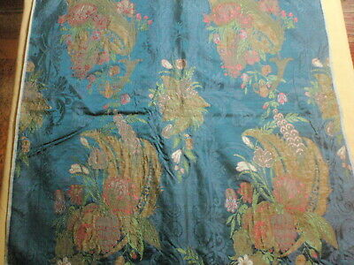 Antique French Silk Brocade Fabric