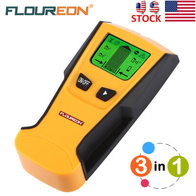 3in1 Multi-Function LCD Wall Detector Stud Center Finder AC Live Wire Detector