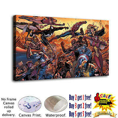 """12""""x22""""Marvel vs DC HD Canvas prints Painting Home Decor Picture Room Wall art"""
