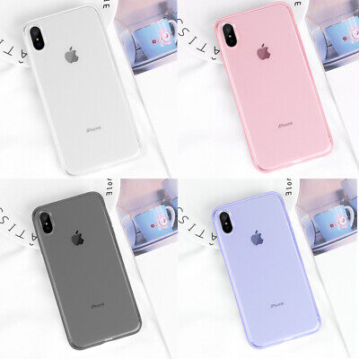 Transparent Slim Soft Silicone Case Cover For iPhone XS Max XR X 8 7 Plus 6S 6