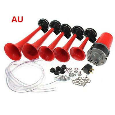 5X 12V Trumpet Musical Dixie Dukes Of Hazzard Electronic Red Air Horn Compose AU