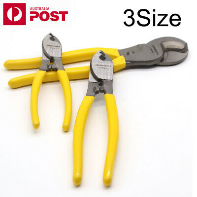 """6"""" 8"""" 10"""" Electrical Cable Cutters Wire Cutting Plier Electrician NBN Tool OZ"""