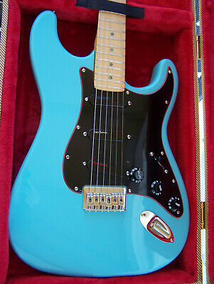 NEW DAPHNE BLUE HARDTAIL STRAT w/ JAMES BURTON'S CHOICE OF PICKUPS & MAPLE NECK