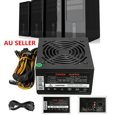 350W Watt Power Supply PSU PFC Silent Fan ATX 24-PIN PC Computer Gaming 50/60Hz
