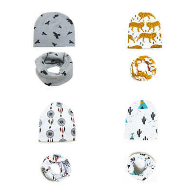Cute Cartoon Printed Baby Hats Cotton Beanie Hat For Boys Girls 0-3 Years Caps