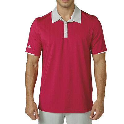size 40 397ba 0ac4e New Adidas Climacool Tipped Club Golf Polo Unity Pink stone Small
