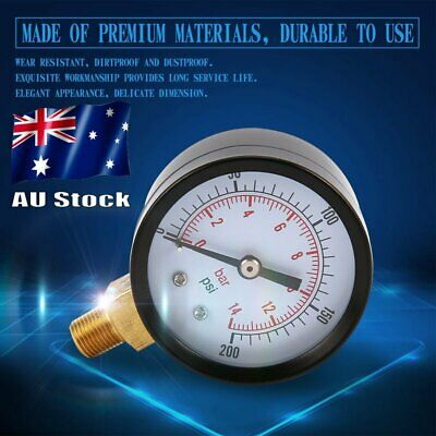 Vacuum Manometer Mini Dial Air Vacuum Pressure Gauge Double Scale 1/4 OK