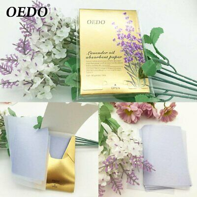 90 Pieces / Box OEDO Oil Absorbent Paper Portable Lavender Oil Absorbent Pa J◎