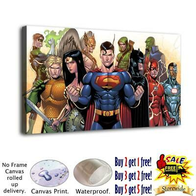 Dc heroes HD Canvas prints Painting Home Decor Room Picture Wall art 125868