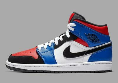 c3e99ed3a2cf2f NIKE AIR JORDAN 1 Mid Top 3 GS size 7Y 7. White Black Hyper Royal ...