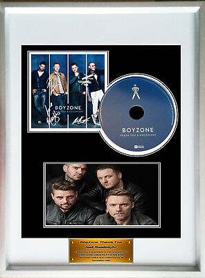 Framed Poster Boyzone Thank you and Goodnight Display CD Disc Signed Picture