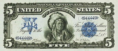 PREPRODUCTION $5 dollars Indian chief US currency