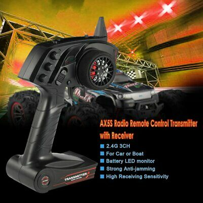 AX5S 2.4G 3CH Radio Remote Control Transmitter with Receiver for RC Car B PE