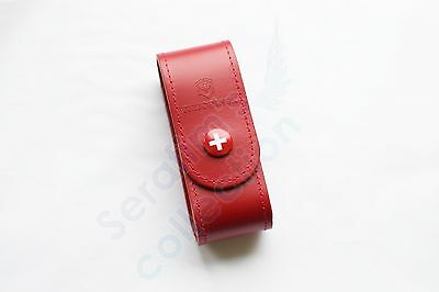 Victorinox Red Leather Pouch 4.0520.1 for 84/91/93 mm 2–4 Layers Folding Knife