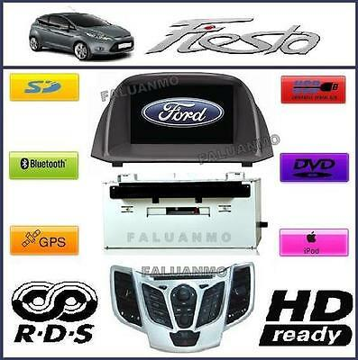 Autoradio Stereo Nuova Ford Fiesta Navigatore Gps Bluetooth Dvd Mp3 Usb Sd