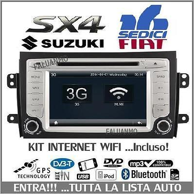 Autoradio Stereo Suzuki Sx4 / Fiat 16 Sedici Gps Dvd Mp3 Hd Bluetooth