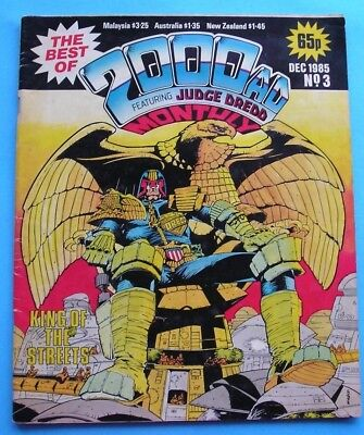 The Best of 2000AD Featuring Judge Dredd Monthly No 3 Dec 1985
