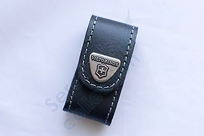 Victorinox Black Leather Pouch for 58mm 4.0518.XL Case Swiss Army Folding Knife