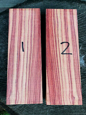 Brazilian tulipwood (rosewood) knife scale block carving block 150x51x23-24mm