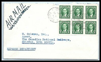 Goldpath: Canada Air Mail Sc# 231B Booklet Pane   _Cv32_P9