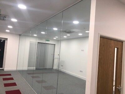 Glazed Office Partitions - 7.4m long x 2.79m high