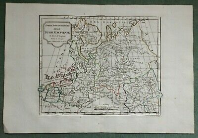 RUSSIA BALTIC STATES XIXe CENTURY VAUGONDY DELAMARCHE ANTIQUE ENGRAVED MAP