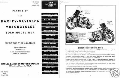 harley davidson wla military motorcycle parts service manual ww2 archive  detail