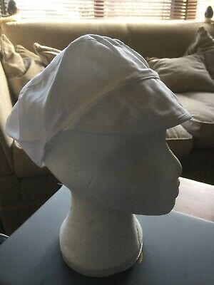 2 X Chef Skull Caps With Peak Chefs Hat Catering Restaurant One Size 100% cotton