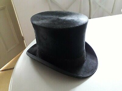 French silk black Top Hat small