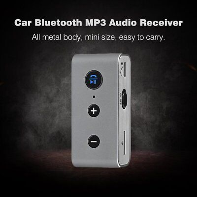 Car Wireless Bluetooth 3.5mm AUX Stereo MP3 Music Audio Receiver Adapter LOT HS