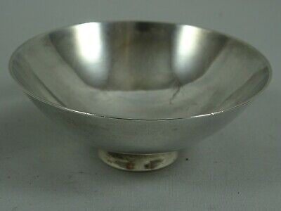 JAPANESE solid silver SAKE CUP, c1900, 25gm