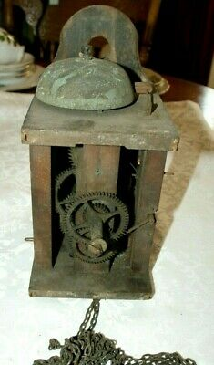Antique FIDEL KLEISHER Chain Driven POSTMAN'S Wall Clock Movement, Spares/Repair