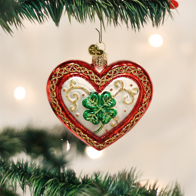 """Old World Christmas """"Lucky in Love"""" Glass Ornament    **FREE SHIPPING**"""