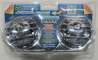 Wolo 325-2T Maxi Sound Chrome Universal Horn 12 Volt / Two Terminals