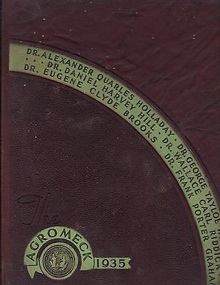 "1935 ""Agromeck"" - NC State University Yearbook - Raleigh, NC - Names in Listing!"