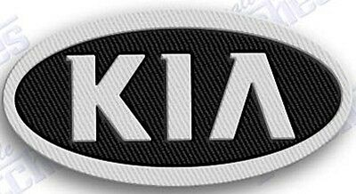 KIA  AUTO CAR  iron on embroidery patch 2.3 x 1.7  EMBROIDERED PATCHES !!!1