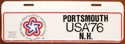 Vintage Portsmouth New Hampshire 1976 BICENTENNIAL Booster Topper License Plate
