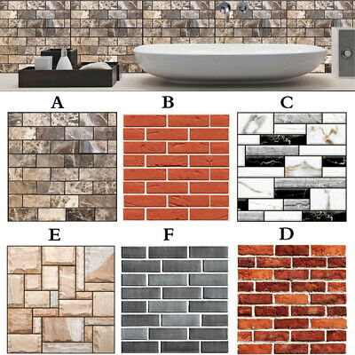 New Pvc Waterproof Wall Sticker 3d Mosaic Tile Wallpaper