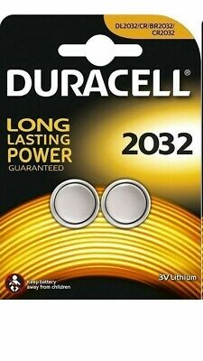 2 x DURACELL CR2032 3V LITHIUM BUTTON BATTERY COIN CELL DL/CR 2032 GENUINE.