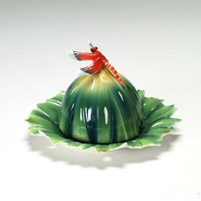 Franz Dragonfly Butter Dish - Fz01869 Rain Forest Collection