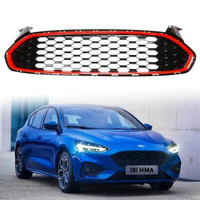 For Ford Fusion 2013-2016 Front Bumper Upper Grille Mustang Red Honeycomb Style
