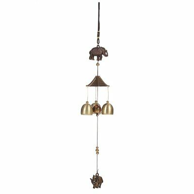 Elephant Wind Chimes Bell Funtuire Ornaments Pendant Home Decoration BY