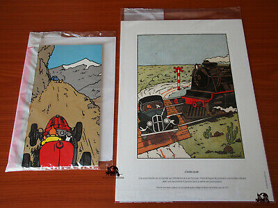 Lot TINTIN 3 Lithographies + 1 CARNET DE NOTES 2019 Moulinsart Hergé NEUF