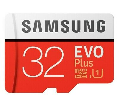 Samsung EVO Plus 32GB Micro SD Card 95MBs SDHC UHS-I Memory Card With Adapter