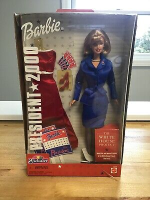 Blonde Barbie Doll for President 2000 with gown and other items, MIB
