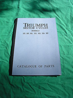 Triumph Motor cycle  Catalogue of parts, 1934, all models