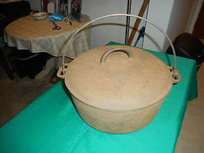 Antique Rare Griswold Erie Cast Iron # 10 Bake Oven With Lid 1910,--1914