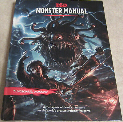 D&D Dungeons & Dragons 5 th Monster Manual GDR INGLESE english mostri manuale
