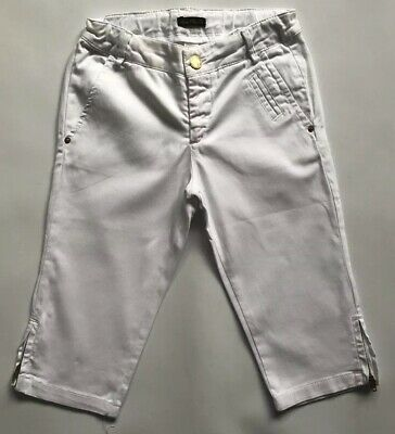 Zara White Cropped Trousers Shorts 5-6 Years