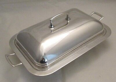 A Fine Art Deco Silver Plated Draining Tray / Dish / Tureen